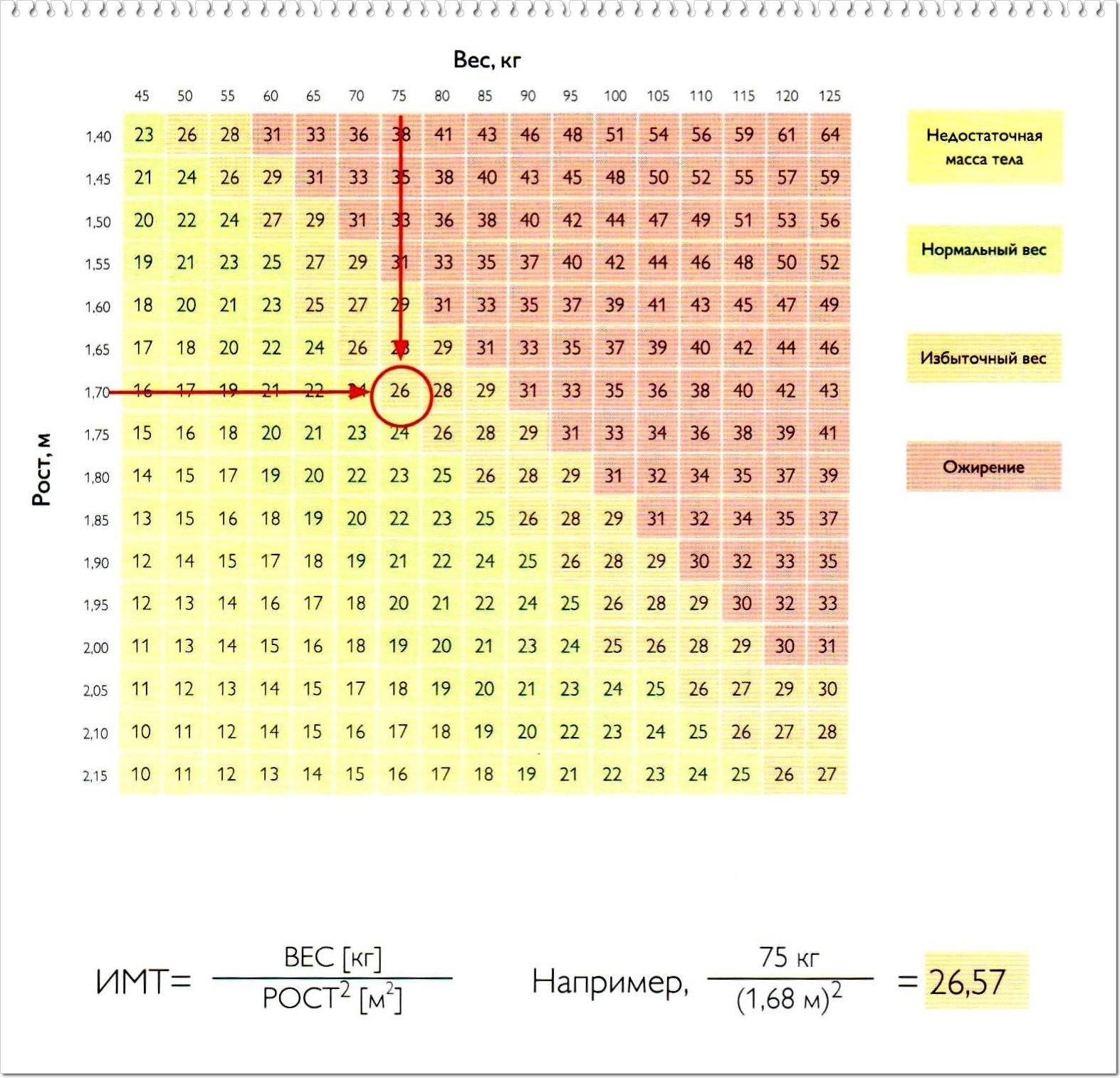 Индекс массы тела и степень ожирения