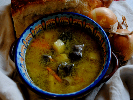 Суп из маринованных грибов