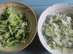 Готовый салат в 2 вариантах