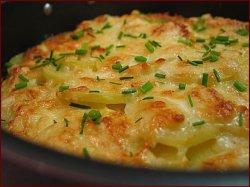 Картофель запеченный в духовке с сыром и майонезом