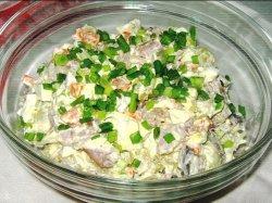 Быстрый селедочный салат
