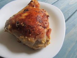 Жареная курица с корочкой