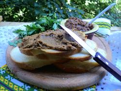 Печёночный паштет из говяжьей печени