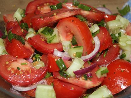 Готовый легкий салат