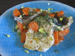 Рыба с морковью и луком в духовке «Ароматная»