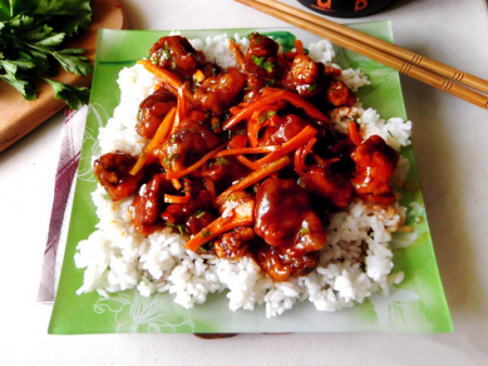 Свинина в кисло сладком соусе (китайская кухня)