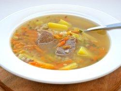 Суп с вермишелью и говядиной
