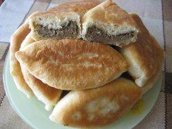 Пирожки с говяжьей печенью